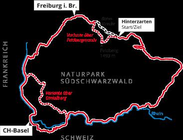 Südschwarzwald Karte.Südschwarzwald Radweg